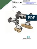 Kamstrup Ultraflow 54 Ultrasonic Flow Meter Multical Heat Meter Thermal Heat Meter RHI Compliant DN 15 to 125 Technical Information