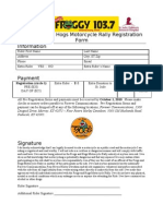 Frogs and Hogs Registration Form2010