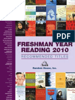 Freshman Year Reading