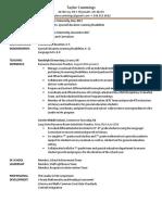 2017 resume