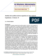 0 Zapata_Análisis de La Política Exterior Argentina