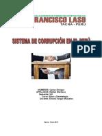 Sistema de Corrupcion en El Peru - Etica