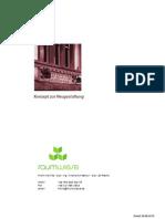 Konzept für die Neugestaltung eines Cafés/Restaurants