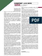 Nieuwsbrief QTR Fund - Juni 2010