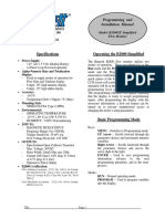 Blancett B2800 Simple XP Manual
