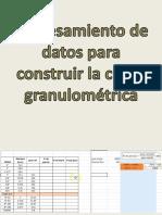 Procesamiento de datos para construir la Curva Granulométrica