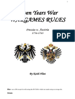 Seven Years War Wargames Rules