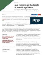 G1 - Maioria Dos Que Moram No Sudoeste e Octogonal é Servidor Público - Notícias Em Distrito Federal