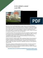 Otorgan Premio de Calidad a Central Nucleoeléctrica de CFE