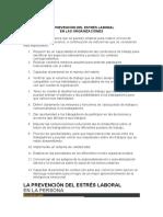 Lectura 6 La Prevencion Del Stres Laboral en Las Organizaciones