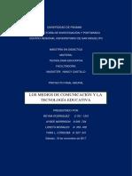 LOS MEDIOS DE COMUNICACIÓN Y LA TECNOLOGÍA EDUCATIVA