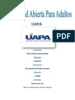 Etica Profesional Del Psicologo Tarea#1