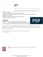 1 the Relationship Between Corporate Social Responsibility and Earnings Management an Exploratory Study, Yongtao Hong and Margaret L. Andersen 2011