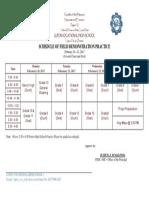 Schedule FieldDemo