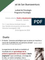 Duelo y Desplazamiento Forzado by José Alonso Andrade Salazar