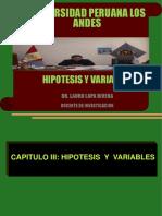 4. Clase Hipotesis y Variables