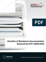 ISO Checklist of Mandatory Documentation Required by IATF 16949 en YES OK