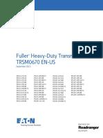 95 Eaton RTLO 18918B Transmission Service Manual