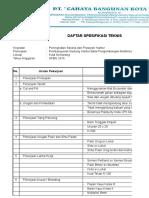 Spesifikasi Teknis-BPMP