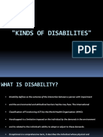 Kinds of Disabilites
