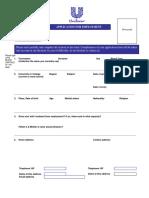 Unilever Employee Application Form