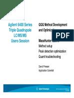 QQQ Method Development Triple and Optimization