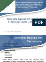 Aula Conceitos Basicos Em Demografia e Fontes de Dados Demograficos Geografia Da Populacao 29.08.2014