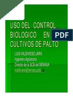 Control Biologico de Plagas en El Cultivo de Palto. Ing. Valdivieso