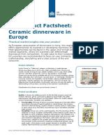 Product Factsheet Dinnerware Europe Home Decoration Textiles 2014