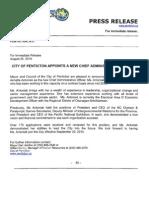2010-08-25PR City Appoints New CAO