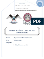 Informe de Interpretacion Antiguo Cusco