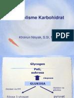 11. Metabolisme Karbohidrat