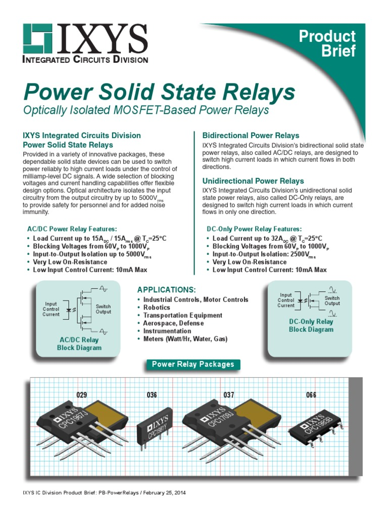 Pb Powerrelays Relay Switch Current Input