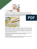 Características Más Comunes Entre La Auditoria Administrativa y Financiera