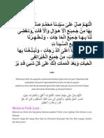Bacaan Sholawat Munjiyat