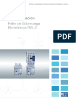 WEG Rw e Reles de Sobrecarga Electronicos 50052277 Catalogo Espanol