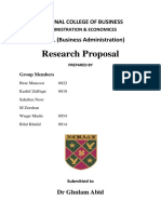 Research Proposal Organizational Resources and Organizational Success