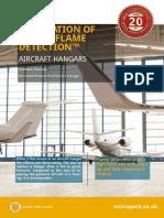 Visual Flame Detection Aircraft Hangars