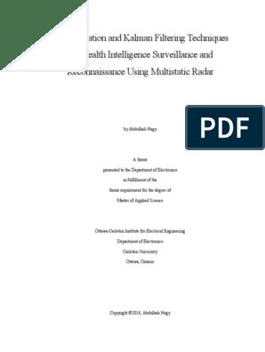 Nagy Multilaterationandkalmanfilteringtechniques   Radar