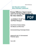 Glass Manufacturing Energy Guide