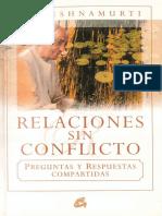 Relaciones Sin Conflicto - Jiddu Krishnamurti
