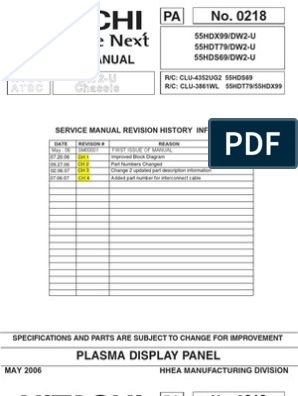 Hitachi 55HDT79 Service Manual   Printed Circuit Board   Soldering on