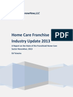 Home Care Franchise Industry Update2013