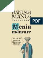 Hanu' lui Manuc Meniu mâncare