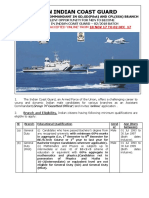 Indian Coast Guard Recruitment - Assistant Commandant 2017