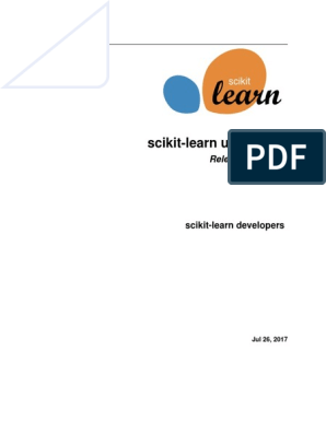 Scikit Learn Docs | Support Vector Machine | Cluster Analysis