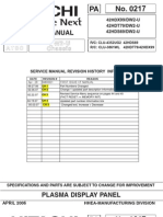 Hitachi 42HDT79 Service Manual