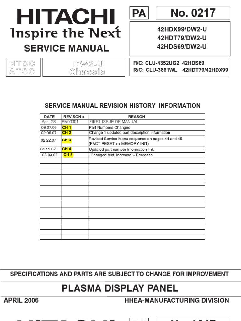 Hitachi 42HDT79 Service Manual | Printed Circuit Board | Soldering