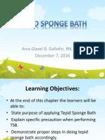 Tepid Sponge Bath