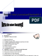 Bursa de Valori Si Mecanismul Functionarii Ei - Studiu de Caz BVB